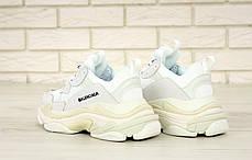 Кроссовки женские Balenciaga Triple S баленсиага белые. Многослойная подошва.. ТОП Реплика ААА класса., фото 3