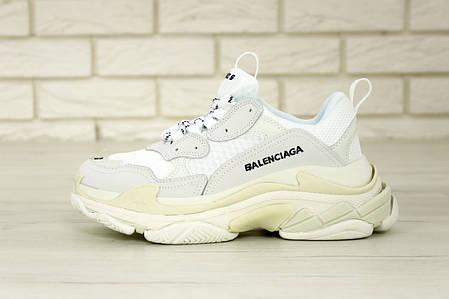 Кроссовки мужские Balenciaga Triple S баленсиага белые. Многослойная подошва.. ТОП Реплика ААА класса., фото 2