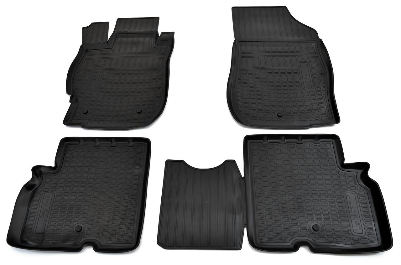 Коврики в салон для Nissan Almera RU(G11) (13-) (полиур., компл - 4шт) NPA11-C61-020