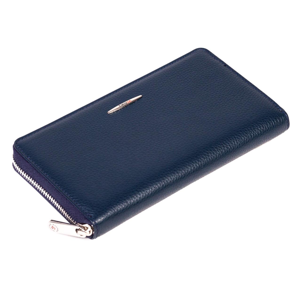 Женский кошелек Eminsa 2152-18-19 кожаный синий