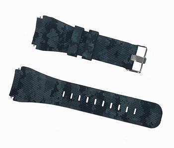 Силіконовий ремінець для годинника Samsung Galaxy Watch 46 mm SM-R800 - Grey Camouflage