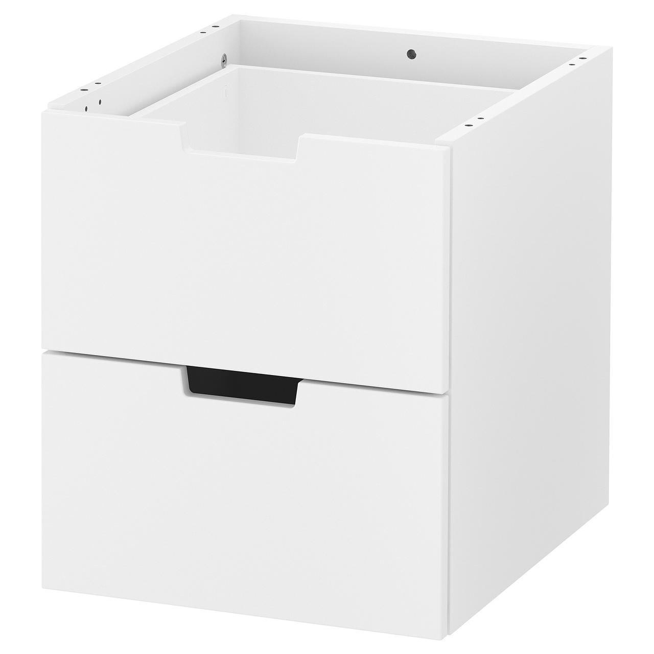 Купить IKEA NORDLI (903.834.57) Комод Modod комод/2 выдвижных ящика, белый