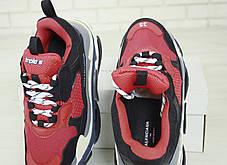 Кроссовки мужские Balenciaga Triple S баленсиага красные. Многослойная подошва.. ТОП Реплика ААА класса., фото 2