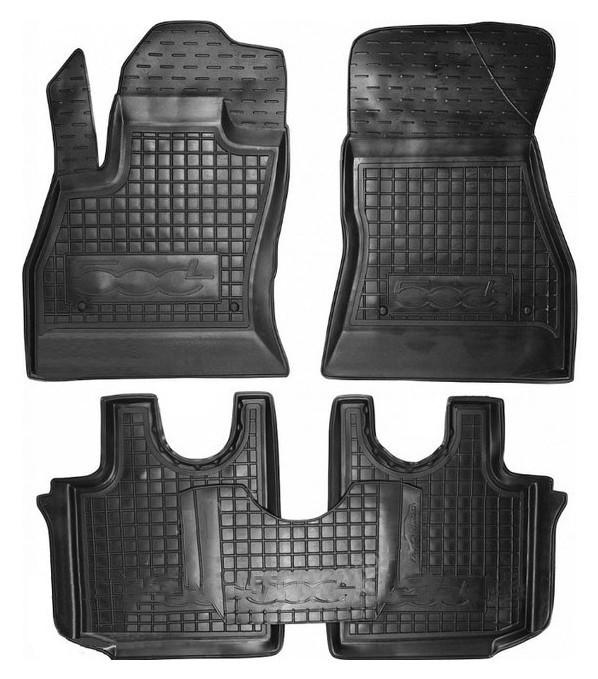Коврики в салон для Fiat 500L 2012- черный, кт - 4шт 11372 Avto-Gumm
