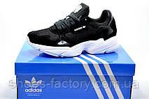 Женские кроссовки в стиле Adidas Falcon W Black\White, фото 3