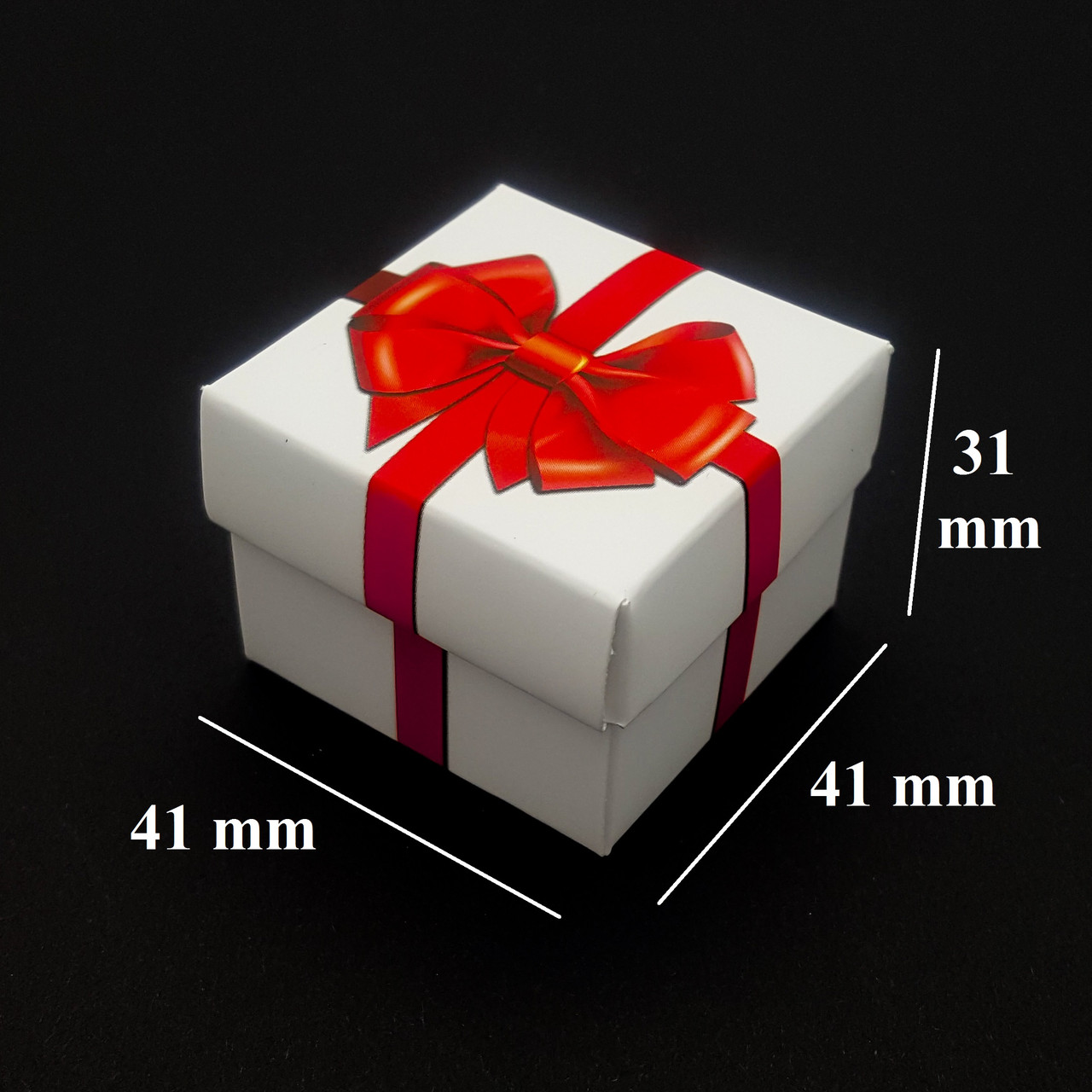 Подарочная коробочка Красный Бант, для сережек и колец, с вкладышем