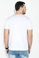 Футболка мужская, принт полоски 81P0170 (Белый), фото 3