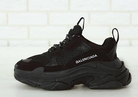 Кроссовки женские Balenciaga Triple S баленсиага черные. Многослойная подошва.. ТОП Реплика ААА класса., фото 2