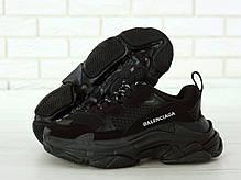 Кроссовки мужские Balenciaga Triple S баленсиага черные. Многослойная подошва.. ТОП Реплика ААА класса., фото 3