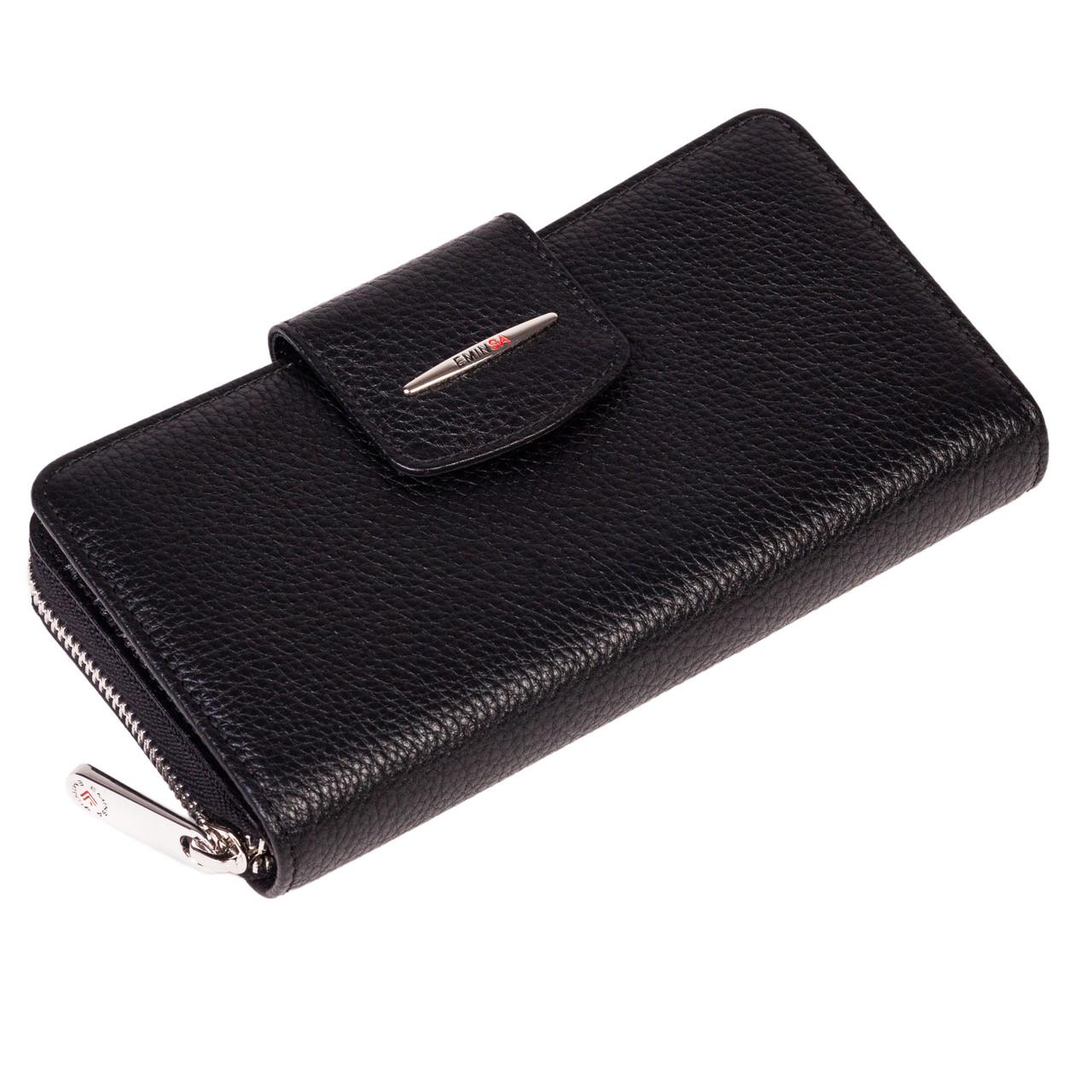 Женский кошелек Eminsa 2149-18-1 кожаный черный