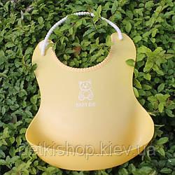 Слинявчик з кишенею «Baby Bib» (жовтий)
