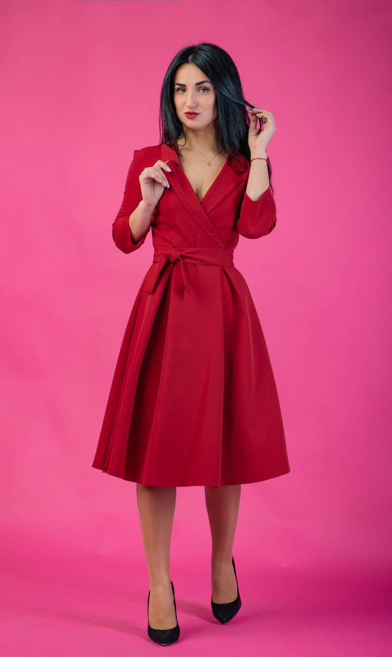 Модное платье полусолнцеклешь