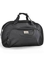 Модная стильная дорожная сумка чисто черная 70 см.
