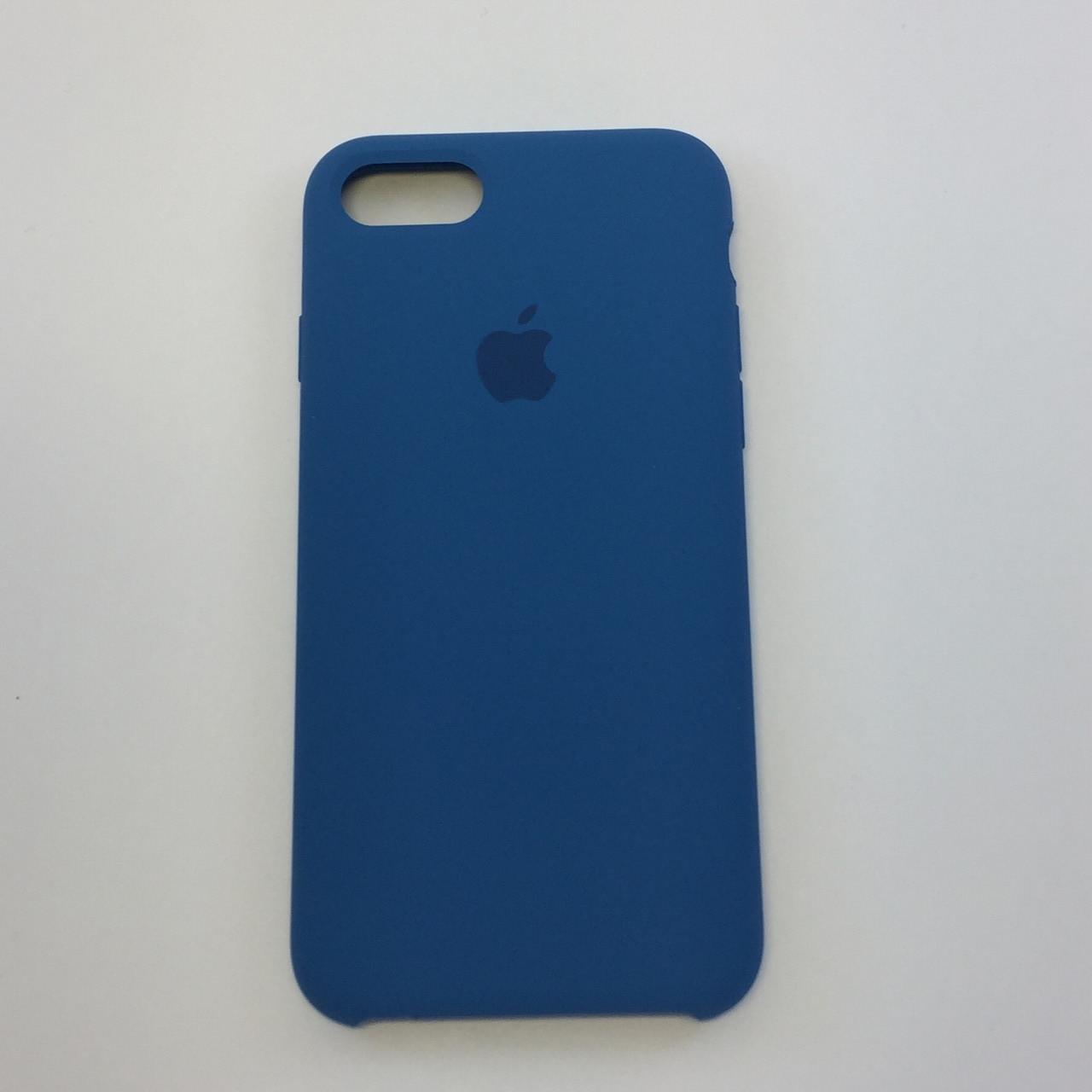 Чехол для iPhone 7 Plus, темный кобальт, силикон, copy original