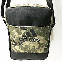 Спортивные барсетки Adidas S\M (черный+камуфляж)16*20см