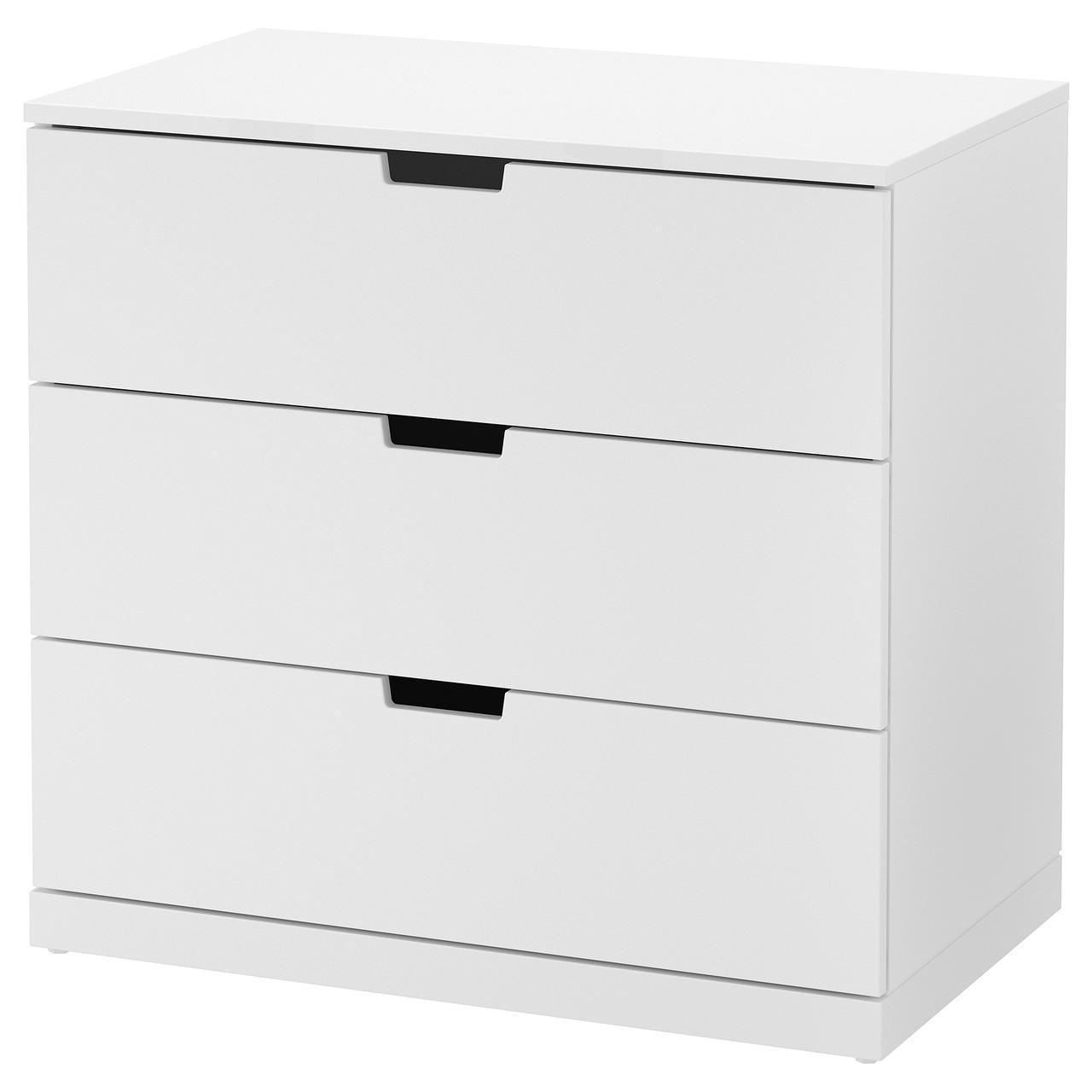Купить IKEA NORDLI (692.394.95) Комод, 3 ящика, белый