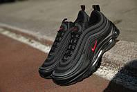 Мужские кроссовки в стиле Nike Air Max 97 Black (Реплика ААА+), фото 1