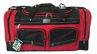 Дорожная  удобная сумка ELENFANCY с красным (2 кармана)