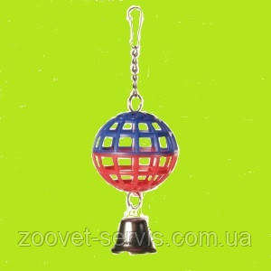 Игрушка для птиц Trixie Мяч пластмассовый с колокольчиком 7 см 5250