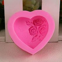 Харчова силіконова форма серце, фото 3