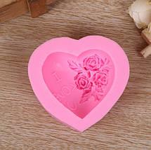 Харчова силіконова форма серце, фото 2