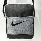 Спортивні барсетки Nike S\M (синій-темний+чорний)16*20см, фото 4