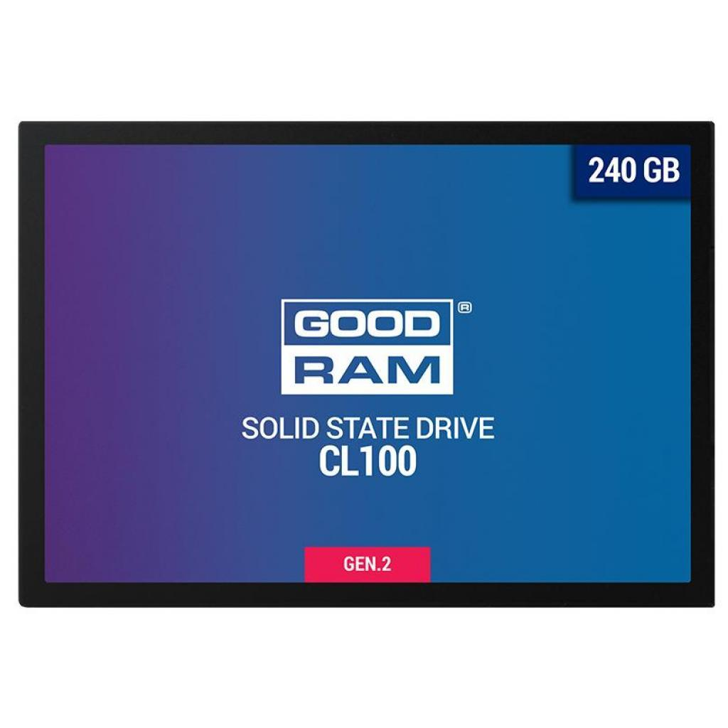 "Накопитель SSD 2.5"" 240GB GoodRam (SSDPR-CL100-240-G2) ."