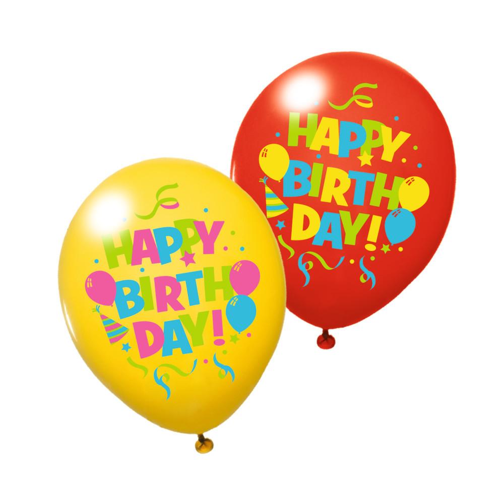 Воздушные шары Susy Card 6шт 30см Happy Birthday