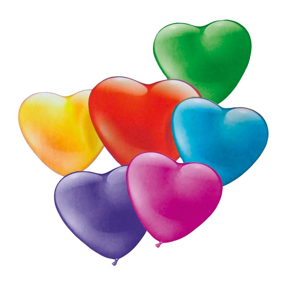 Воздушные шары Susy Card 20шт 15см Сердце разноцветные