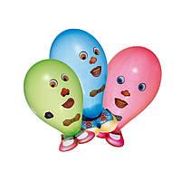Воздушные шары Susy Card 6шт Funny Faces с наклейками