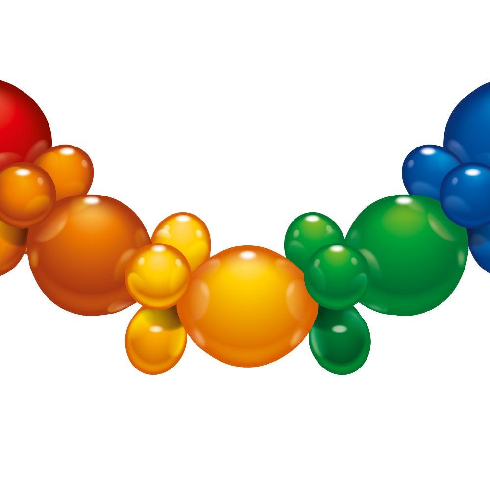 Гирлянда из воздушных шаров Susy Card Rainbow 175см Радуга