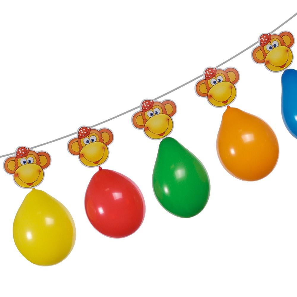 Гирлянда из воздушных шаров Susy Card Monkey 3м Обезьянки 6шт