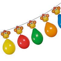 Гирлянда из воздушных шаров Susy Card Monkey 3м Обезьянки 6шт, фото 1