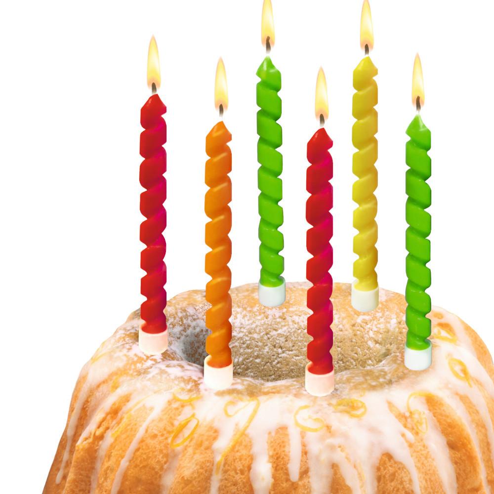 Свечи для торта Susy Card Twister 6шт
