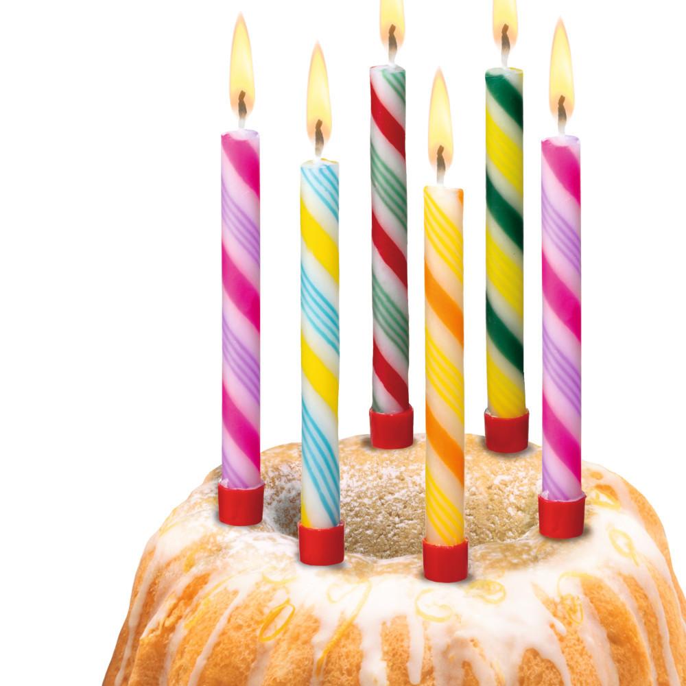 свечка на торте картинка классическом цветном оформлении
