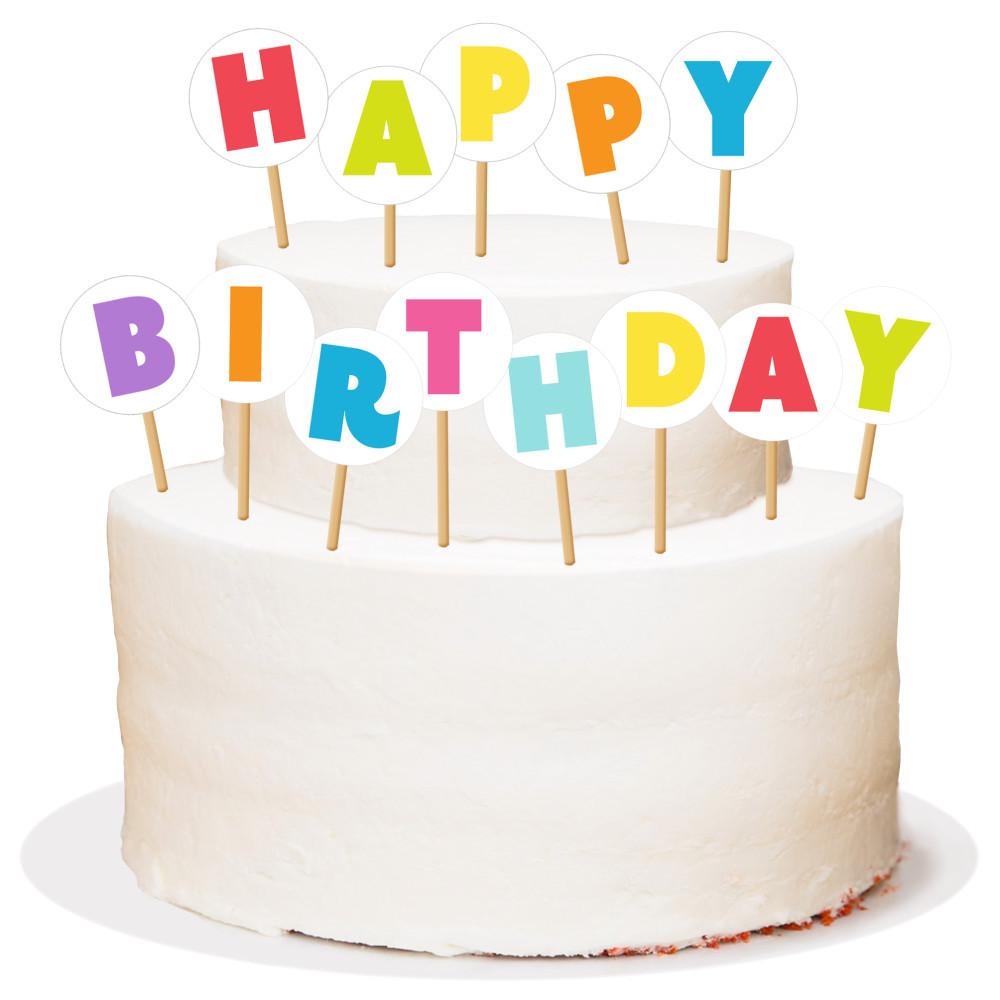 Шпажки деревянные Susy Card Happy Birthday 13шт 7см