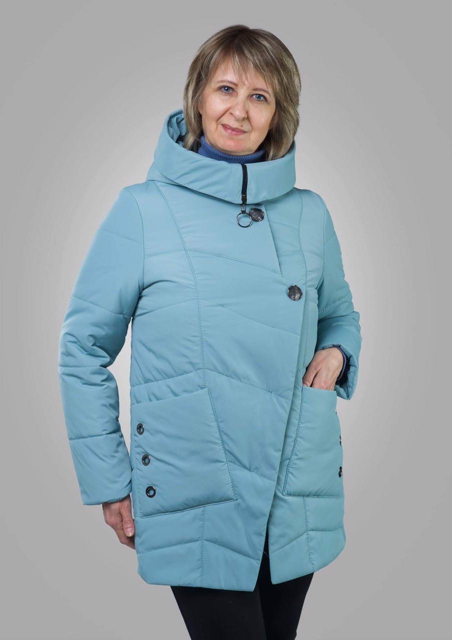 9b9f8f46e88 Куртка женская осень-весна больших размеров 50-60 мятный - Ukraine-fashion  Модно