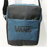 Спортивные барсетки Vans S\M (черный+серый)16*20см, фото 3