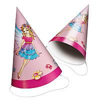 Колпачки карнавальные Susy Card 6шт Fairy розовые с принтом Фея