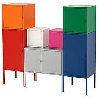 IKEA LIXHULT (492.488.58) Шкаф, czerwony/pomaranczowy/szary rozowy/белый, синий/зеленый