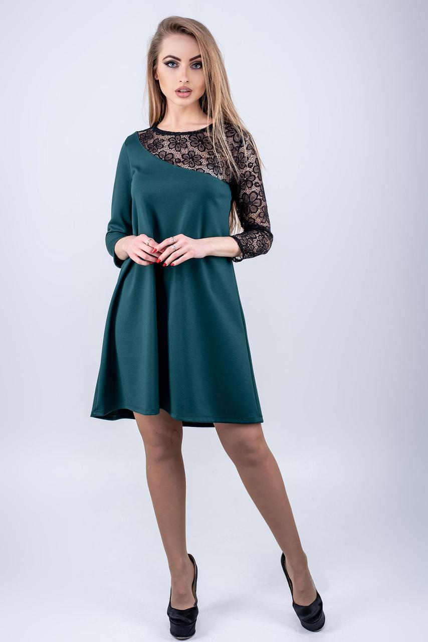 4ad9f15a345 Женское платье слегка свободного кроя Сакура   размер 44-52   цвет зеленый
