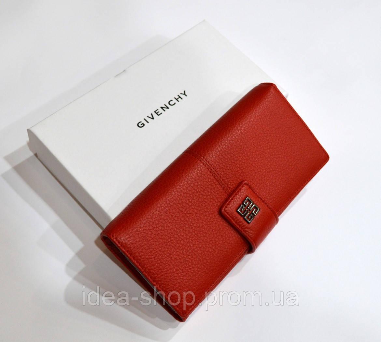 c8280076b928 Женский модный кожаный кошелек (реплика) Givenchy красный - интернет-магазин