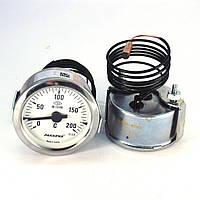 Термометр 0 200°С с выносным датчиком 1 м Ø60, Pakkens Турция