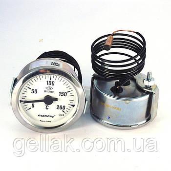 Термометр 0 200°С з виносним датчиком 1 м Ø60, Pakkens Туреччина