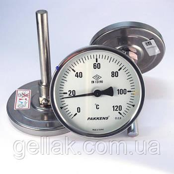 Термометр 0 120°С з занурювальний гільзою 10 см Ø63, Pakkens Туреччина
