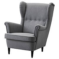 IKEA STRANDMON (203.432.24) Кресло, Skirtteum светло-голубой