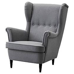 IKEA STRANDMON (203.432.24) Кресло, темно-серий