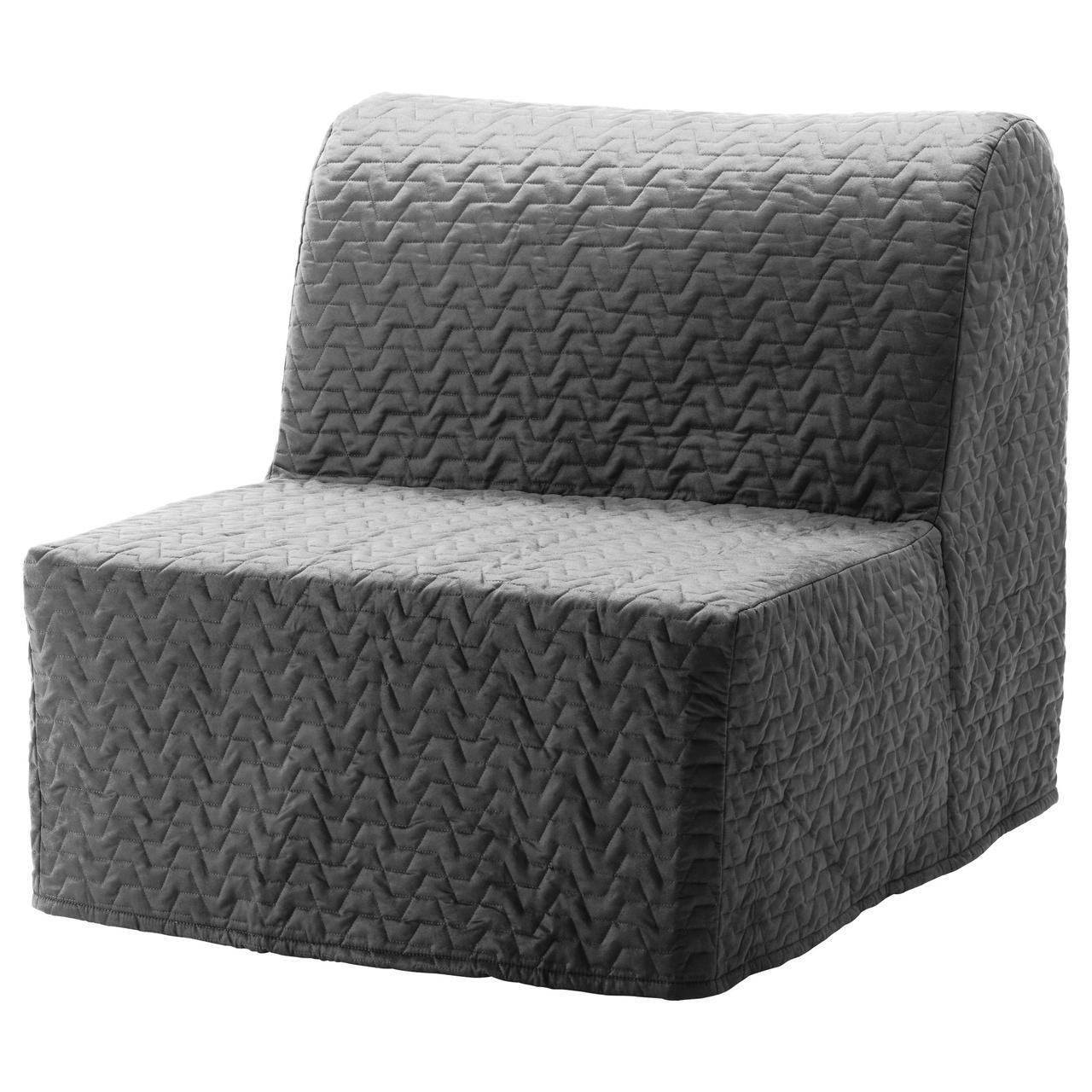 IKEA LYCKSELE LOVAS (091.341.56) Складной стул, Ebbarp черный/белый