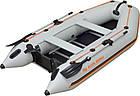 Лодка надувная Колибри км-330д с жестким дном и надувным килем четырехместная лодка, фото 2