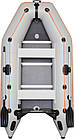Лодка надувная Колибри км-330д с жестким дном и надувным килем четырехместная лодка, фото 3